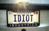 idiot_license_plate